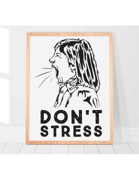 Plakat Skandynawski Na ścianę Nie Stresuj Się Plakat Motywacyjny Do Ramki