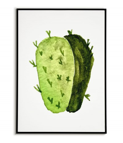Cactus painted on a white...