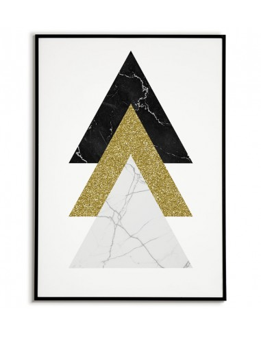 Geometric poster - triangles and gold...