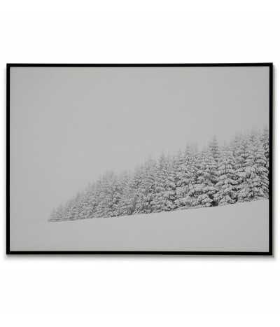 Zimowy las. Plakat, obraz, grafika na ścianę w stylu skandynawskim.