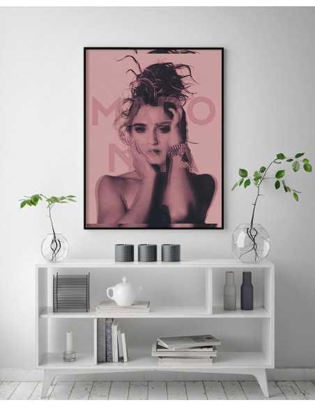 Plakat z Madonna - piękna grafika na ścianę z piosenkarką. Idealna dla każdego fana