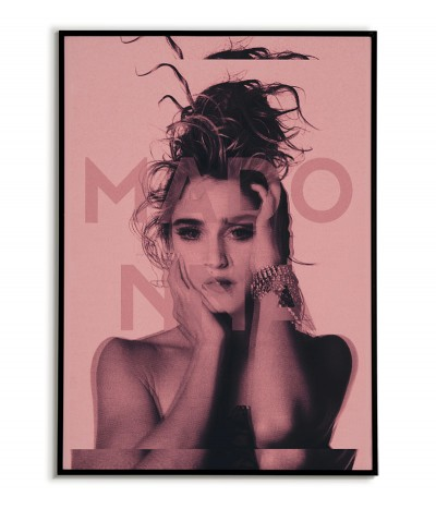 Poster with Madonna - beautiful wall art with the singer. Perfect for every fan