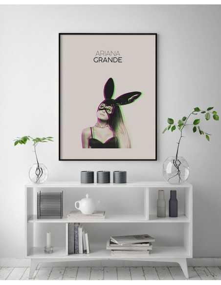 Plakat Ariana Grande. Plakat z piosenkarką, nowoczesna grafika z artystką