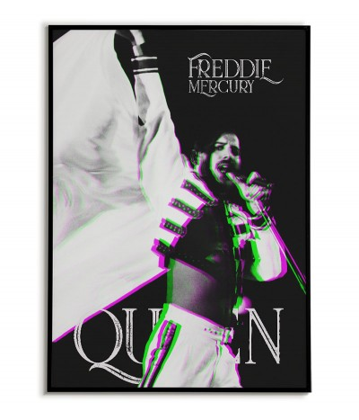 Freddie Mercury poster for frame. Music poster with the vocalist of the band Queen