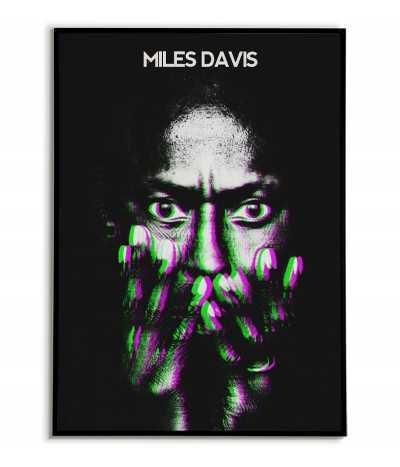 Miles Davis plakat z muzykiem Jazzowym. Autorska grafika na ścianę z artystą jazzowym