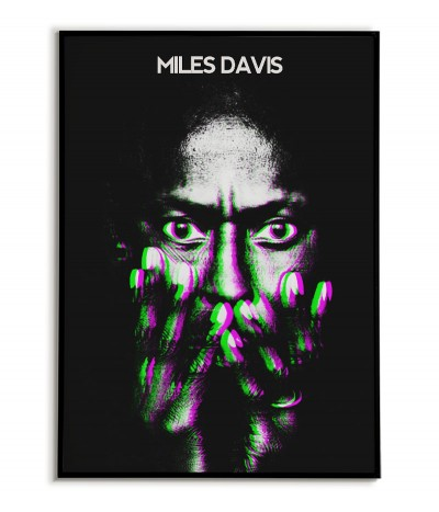 Miles Davis poster with Jazz musician. Original wall art with a jazz artist