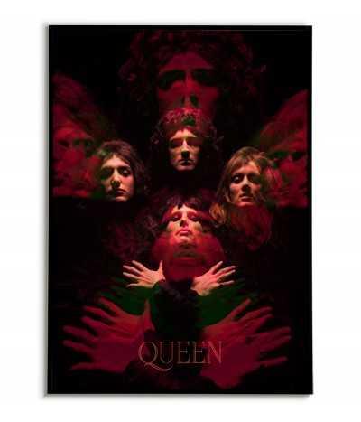 Plakat zespołu Queen. Autorska Grafika obraz do ramki wykonana w nowoczesnym stylu.