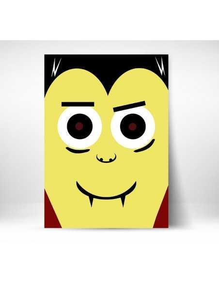 Hrabia Drakula, obrazek dla dziecka, plakat dla dziecka, postać filmowa,