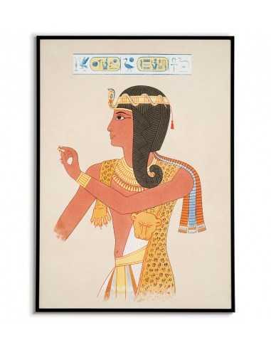 Plakat Egipt z motywami starożytnego egiptu. Grafika na ścianę z portretem w stylu vintage.