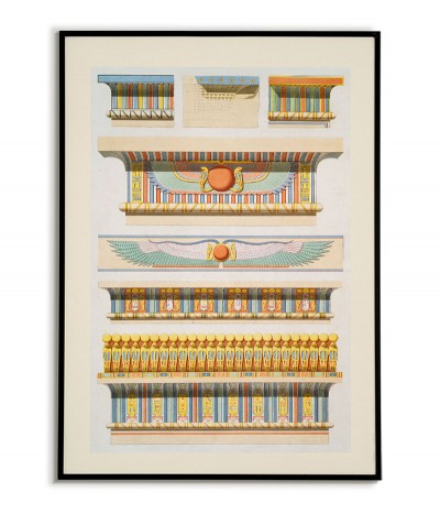 egypt poster. Architecture of ancient Egypt in a beautiful vintage style illustration.