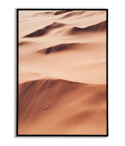 Poster, artwork to frame with a photograph of desert sand. Perfect for a wall in the living room or bedroom