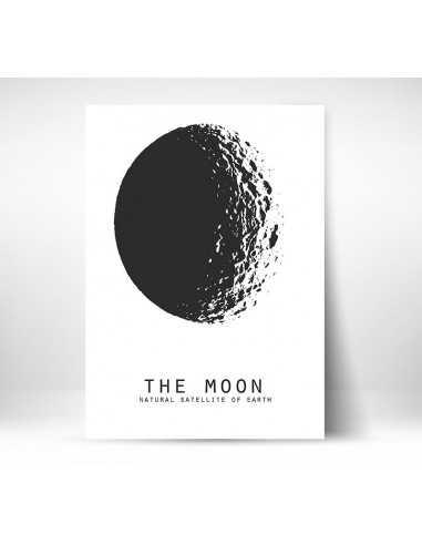Obrazek Na ścianę The Moon Plakat Motywacyjny Do Ramki Vintage Retro