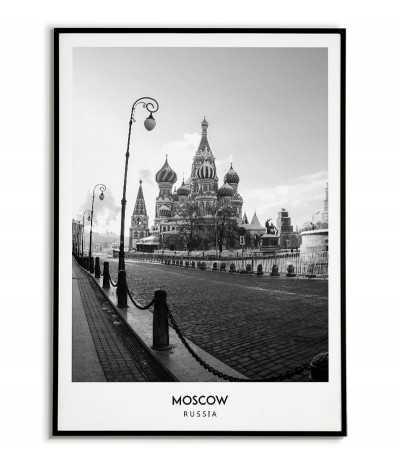 Plakat Miasto - Moskwa -...