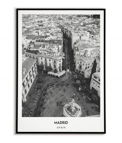Plakat Miasto - Madryt  -...