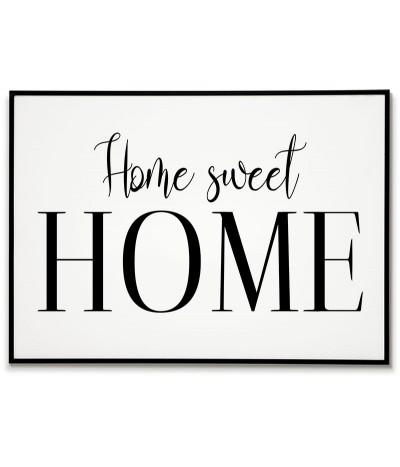"""Plakat typograficzny z napisem """"Home Sweet Home"""" piękna grafika do ramki,"""