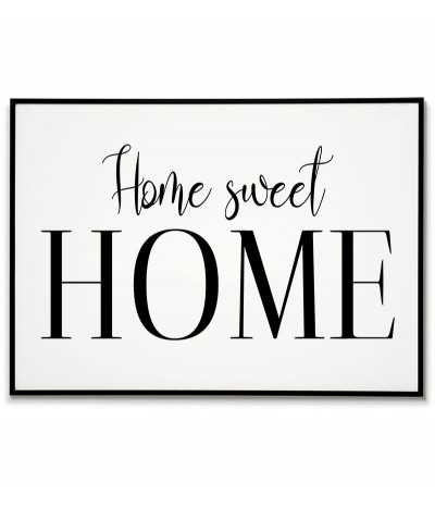 "Typographic poster with the words ""Home Sweet Home"" beautiful graphics for the frame,"