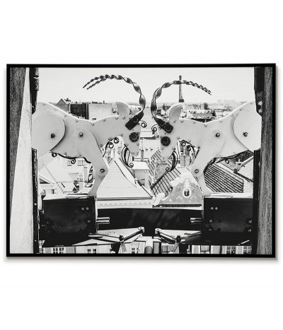 Poster for the frame, Poznań goats. A beautiful print in black and white with Poznań billy goats.