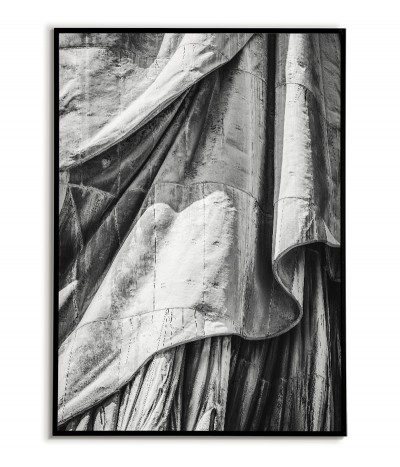 The Statue of Liberty in New York City poster. Black and white photography for the living room or bedroom.