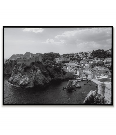 Croatia - Dubrovnik poster. The poster is perfect for a frame and hanging in the living room or bedroom.