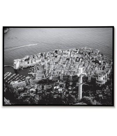 Plakat Chorwacja - Dubrownik. Plakat idealny do ramki i zawieszenia w salonie lub sypialni.