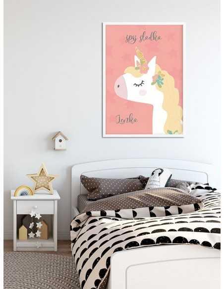 plakat dla dziewczynki, plakat z jednorożcem, obrazek dla dziewczynki, do pokoju dla dziecka