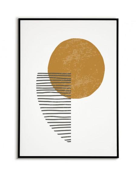 Nowoczesny plakat w minimalistycznym stylu. Plakat z abstrakcyjnymi wzorami i delikatnymi pastelowymi kolorami