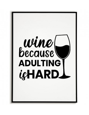 A poster with wine and the words...