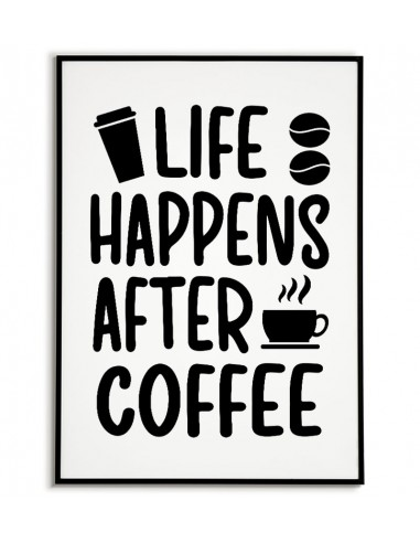 Poster for the frame with coffee and...