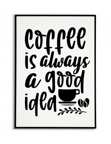 A poster for a frame with coffee and...
