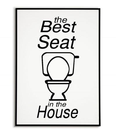 """Zabawny plakat do łazienki, toalety z napisem """"Najlepsze siedzenie w całym domu"""""""