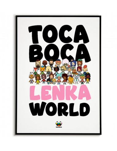 A poster from the game Toca Boca...