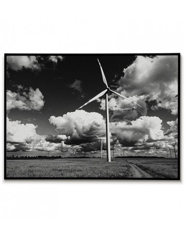 Polish land with windmills poster....
