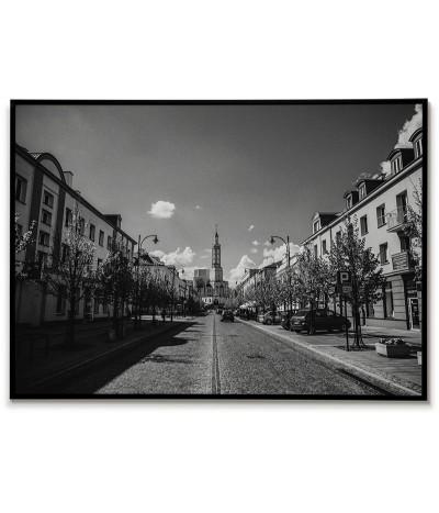 Plakat Białystok Polska. Grafika do ramki z fotografią miasta Białystok