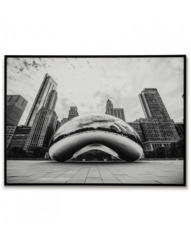 Poster with the city of Chicago USA,...