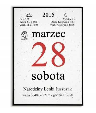 Birth date - Calendar card...