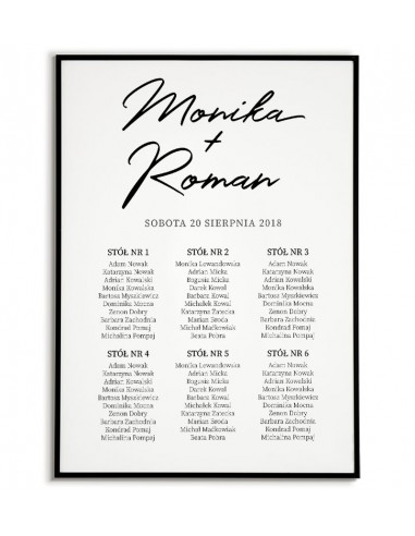Wedding poster with tables -...