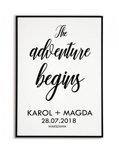 Wedding poster with the name and the...
