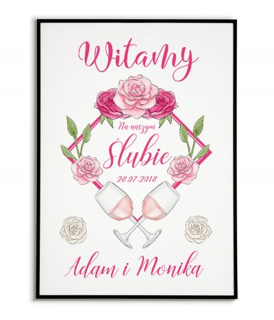 Welcome wedding poster for...