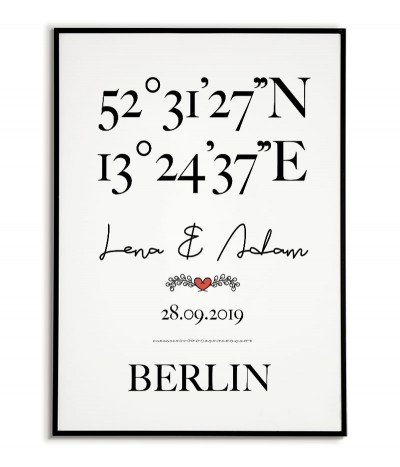 Poster with coordinates,...
