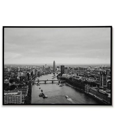 Londyn, Anglia plakat, grafika do ramki z widokiem na miasto z lotu ptaka.