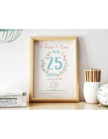 Wedding calendar - Calendar card - Wedding souvenir, anniversary