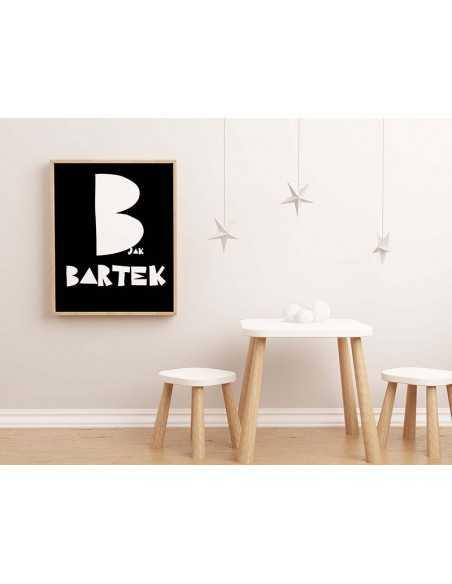 Spersonalizowany plakat dla dzieci na ścianę - Litera Imienia - Obrazek do ramki dla dziecka