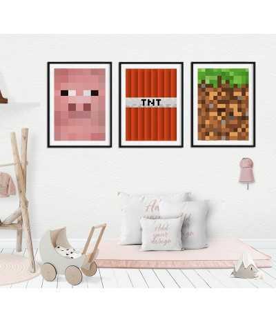 Triptych set of 3 Minecraft...