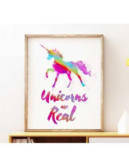 obrazek, plakat na ścianę, plakat motywacyjny, plakat z jednorożcem, plakat do pokoju