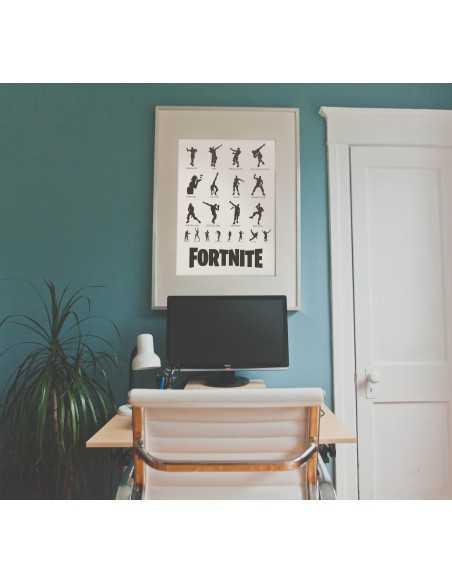 plakat z gry fortnite dla prawdziwego gracza do pokoju lista tańca z nazwami